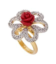 Buy Red Rose AD Stone Ring valentine-gift online