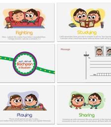 Buy Childhood Memories Greeting Postcard 6 Pc Set Gift stationery online