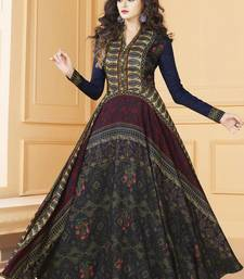 Buy Multicolor Tussar Silk Readymade Suits readymade-suit online