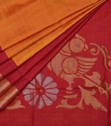 Buy Red uppada silk handloom saree with blouse uppada-saree online