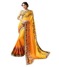 9c30f2690a0845 Buy Yellow embroidered georgette saree with blouse ethnic-saree online. Buy  small 1d44ff3f4d093069d56e7327eedc29da60f5c0cc09300f652d7f464c9cb4e123