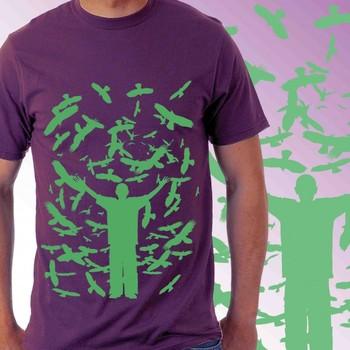 Birds Casual Mens T-shirt