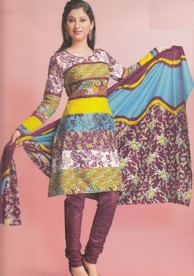 Cotton Dress Material Elegant Designer Unstitched Suit 1643