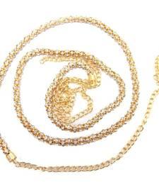 Buy Stylish diamond party wear gold plated jewellery saree waist belt waist-belt online