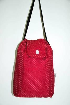 Red polka dots printed Handbag