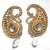 Golden Stone pearl drop tops earring