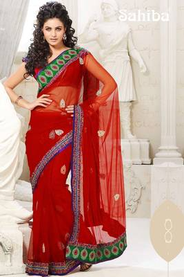 KALI EMBROIDERED DESIGNER SAREE 1004