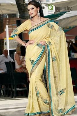 chai designer saree 3009