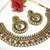 Maroon Green Pearl Polki Kundan Necklace Set