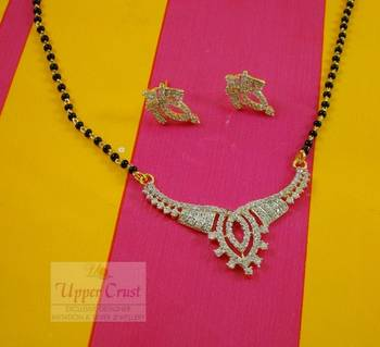 CZ Simulated Diamond Bridal Mangalsutra