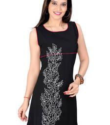Buy black lazer georgett dori work tunic tunic online