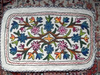namdha crewal rug embroidered