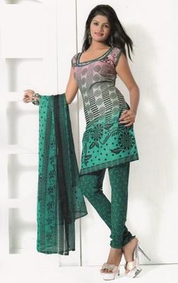 Crepe Dress Material Elegant Designer Unstitched Salwar Suit D.No 7283