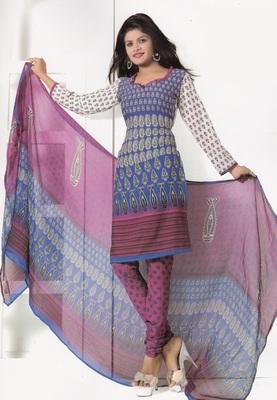 Crepe Dress Material Elegant Designer Unstitched Salwar Suit D.No 7286
