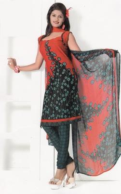 Crepe Dress Material Elegant Designer Unstitched Salwar Suit D.No 7289