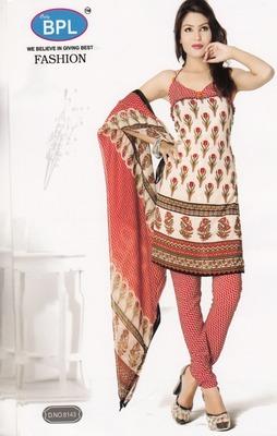 Crepe Dress Material Elegant Designer Unstitched Salwar Suit D.No 8143