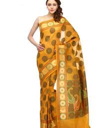 Buy Gold woven cotton silk saree with blouse cotton-silk-saree online