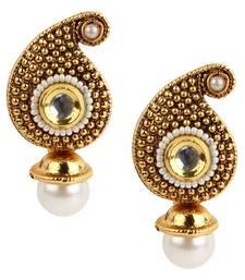 Buy Traditional Indian Bollywood Jewelry Set, Golden Kundan stud Earring Set stud online