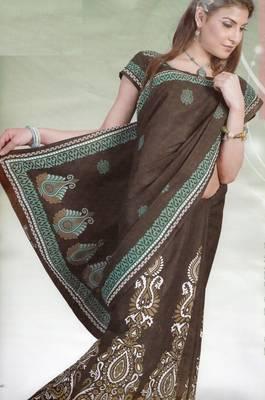 Elegant Cotton Saree With Blouse Piece D.No 989