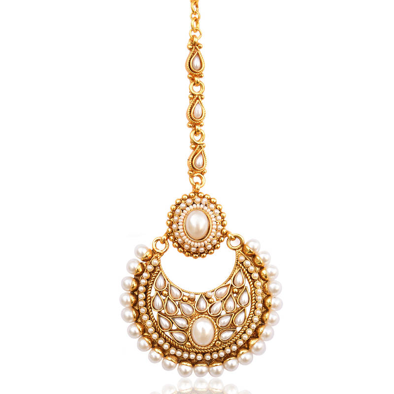 Buy Beautiful Kundan Pearl Polki Mang Tikka Indian Ethnic