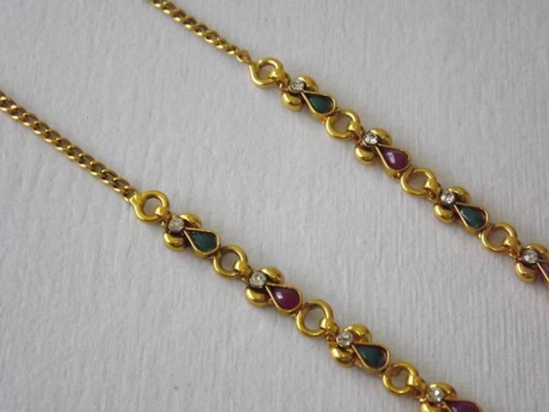 Buy Golden Earring Chain to Support Heavy Earrings in Beads ...