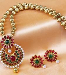 Buy Gorgeous kemp  pendant  set Pendant online