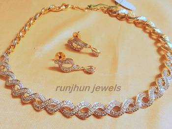 elegant cz necklace with a style