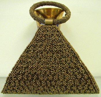 Golden Triangular Clutch