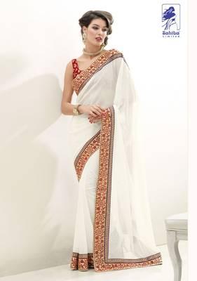 Elegant Designer Sari Kesar17