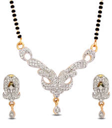 Luxor American Diamond Mangalsutra Mother's Day Gift for Women MS-1237