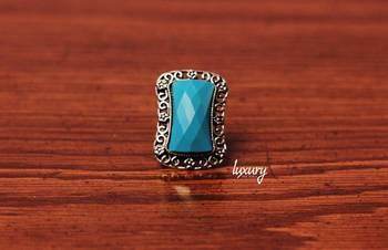 Designer Turquoise Stone RING, Adjustable Handmade, Precious Stone Jewelry