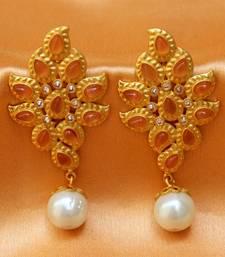 Buy Lovely matt finish earrings danglers-drop online