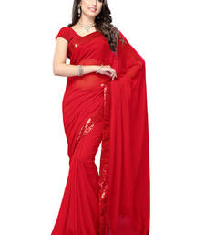 Buy red embroidered net saree with blouse katrina-kaif-saree online