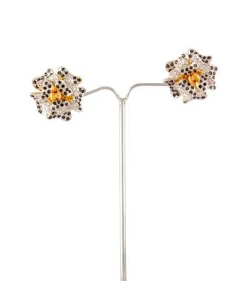 Sihiri Sparkling Floral Earrings