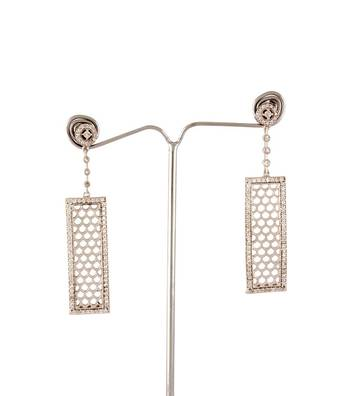 Sihiri Silver Mesh Drop Earrings