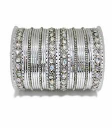 Buy Silver zircon bangles-and-bracelets bangles-and-bracelet online