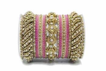 Pink zircon bangles-and-bracelets