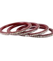 Buy Maroon Crystal bangles-and-bracelets bangles-and-bracelet online