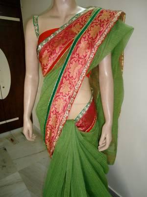 green love saree