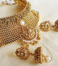 Buy antique kemp necklace south-indian-jewellery online