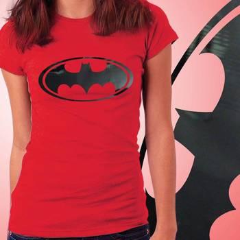 BatWomen Girls Foil Tshirt at Offer, Womens Black Special Effect T-shirt