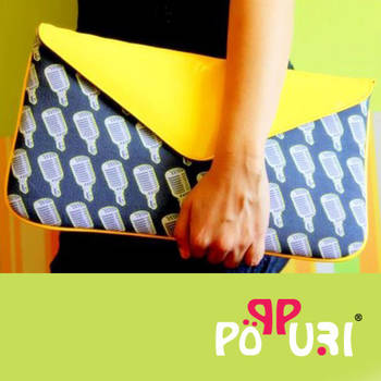 Yellow Mike Envelope Clutch