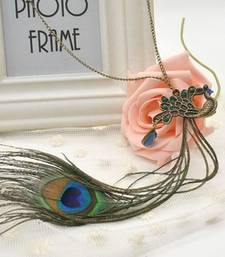 Buy Real Peacock Feather Pendant Chain Pendant online