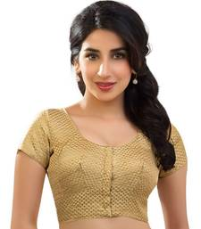Buy gold brocade readymade-blouse readymade-blouse online
