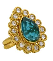 Buy Adjustable Antique golden big rings Ring online