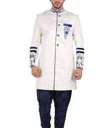 Buy white brocade sherwani jodhpuri-sherwani online