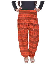 Buy Orange Jaipuri Printed Cotton Free Size Pyjama pyjama online