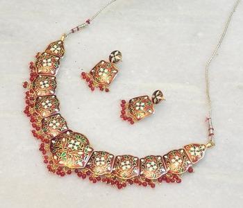 Beautiful ethnic meenakari  necklace set