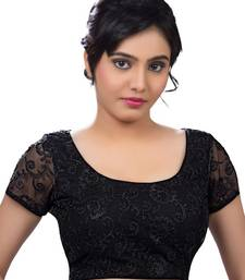 Buy black net embroidered stitched readymade-blouse bridal-blouse online