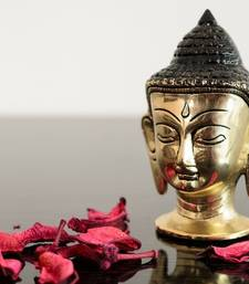 Buy Metal Meditating Buddha Head sculpture online